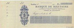 Francs FRANCE régionalisme et divers LOUDÉAC 1920 DOC.Chèque SPL