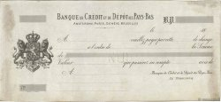 Francs FRANCE régionalisme et divers (PARIS) 1863 DOC.Lettre TTB