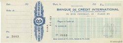 Francs FRANCE régionalisme et divers PARIS 1930 DOC.Chèque NEUF