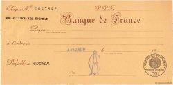 Francs FRANCE régionalisme et divers AVIGNON 1932 DOC.Chèque NEUF