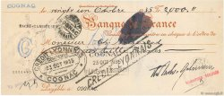 2000 Francs FRANCE régionalisme et divers COGNAC 1935 DOC.Chèque SUP