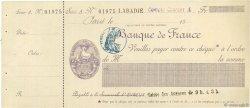 Francs FRANCE régionalisme et divers ÉVREUX 1871 DOC.Chèque