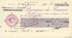 15000 Francs FRANCE régionalisme et divers MAZAMET 1931 DOC.Chèque SPL