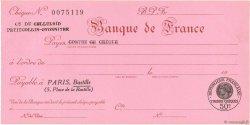 Francs FRANCE régionalisme et divers PARIS 1932 DOC.Chèque SPL
