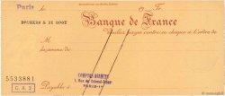 Francs FRANCE régionalisme et divers Paris 1933 DOC.Chèque NEUF