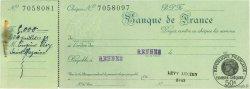 Francs FRANCE régionalisme et divers Rennes 1932 DOC.Chèque SUP