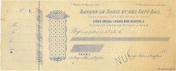 Francs FRANCE régionalisme et divers PARIS 1880 DOC.Chèque TTB