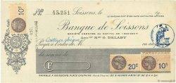 Francs FRANCE régionalisme et divers SOISSONS 1933 DOC.Chèque SUP