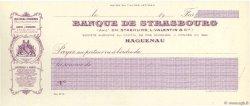 Francs FRANCE régionalisme et divers HAGUENAU 1910 DOC.Chèque NEUF