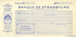 Francs FRANCE régionalisme et divers MULHOUSE 1910 DOC.Chèque NEUF