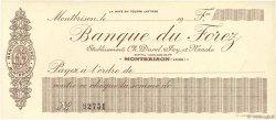 Francs FRANCE régionalisme et divers Montbrison 1906 DOC.Chèque SPL