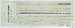110,60 Francs FRANCE régionalisme et divers NIORT 1849 DOC.Mandat