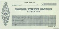 Francs FRANCE régionalisme et divers LAVELANET 1926 DOC.Chèque SPL