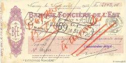 2145 Francs FRANCE régionalisme et divers Nancy 1932 DOC.Chèque TB