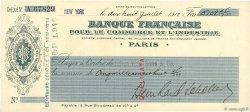 5108,45 Francs FRANCE régionalisme et divers Paris 1913 DOC.Chèque SUP