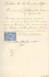 2000 Francs FRANCE régionalisme et divers Tendon 1871 DOC.Lettre TTB