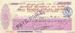 2657,50 Francs FRANCE régionalisme et divers LILLE 1920 DOC.Chèque SUP