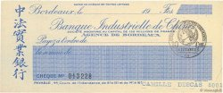 Francs FRANCE régionalisme et divers BORDEAUX 1915 DOC.Chèque NEUF