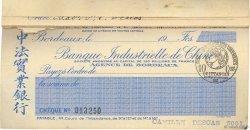 Francs FRANCE régionalisme et divers Bordeaux 1921 DOC.Chèque SUP