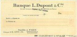 Francs FRANCE régionalisme et divers Paris 1913 DOC.Chèque NEUF