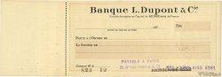 Francs FRANCE régionalisme et divers PARIS 1928 DOC.Chèque TTB