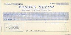Francs FRANCE régionalisme et divers PARIS 1937 DOC.Chèque SPL