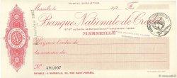 Francs FRANCE régionalisme et divers MARSEILLE 1920 DOC.Chèque SPL