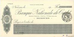 Francs FRANCE régionalisme et divers NEMOURS 1915 DOC.Chèque NEUF