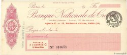 Francs FRANCE régionalisme et divers PARIS 1915 DOC.Chèque SUP