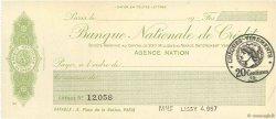 Francs FRANCE régionalisme et divers PARIS 1920 DOC.Chèque SPL