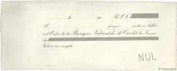 Francs FRANCE régionalisme et divers (PARIS) 1913 DOC.Chèque SUP
