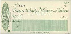 Livres Sterling FRANCE régionalisme et divers (PARIS) 1930 DOC.Chèque NEUF
