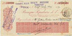 170 Francs FRANCE régionalisme et divers CARCASSONNE 1937 DOC.Chèque TTB