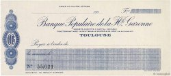 Francs FRANCE régionalisme et divers TOULOUSE 1930 DOC.Chèque SPL