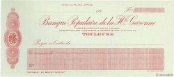 Francs FRANCE régionalisme et divers Toulouse 1930 DOC.Chèque NEUF