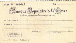 Francs FRANCE régionalisme et divers Montbrison 1933 DOC.Chèque SPL