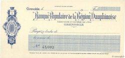 Francs FRANCE régionalisme et divers Grenoble 1917 DOC.Chèque SPL