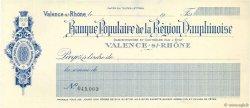 Francs FRANCE régionalisme et divers VALENCE-S/-RHÔNE 1917 DOC.Chèque SUP