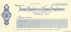 Francs FRANCE régionalisme et divers VOIRON 1917 DOC.Chèque SPL