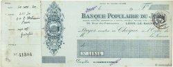 Francs FRANCE régionalisme et divers LONS-LE-SAUNIER 1930 DOC.Chèque TTB