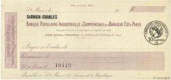 Francs FRANCE régionalisme et divers St.Maur 1920 DOC.Chèque SUP
