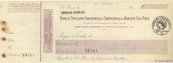 Francs FRANCE régionalisme et divers ST MAUR 1920 DOC.Chèque SUP