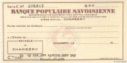 Francs FRANCE régionalisme et divers Chambéry 1936 DOC.Chèque SPL