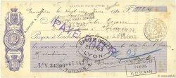 978,45 Francs FRANCE régionalisme et divers (LYON) 1920 DOC.Chèque TTB