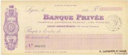 Francs FRANCE régionalisme et divers Lyon 1924 DOC.Chèque NEUF