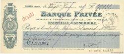 75125 Francs FRANCE régionalisme et divers Marseille 1927 DOC.Chèque SUP
