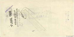 362,60 Francs FRANCE régionalisme et divers Lons-Le-Saunier 1926 DOC.Chèque TTB