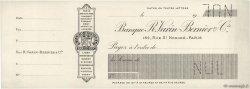 Francs FRANCE régionalisme et divers PARIS 1900 DOC.Chèque SPL