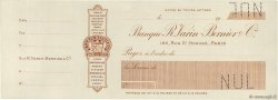 Francs FRANCE régionalisme et divers PARIS 1900 DOC.Chèque SUP