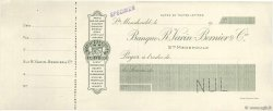 Francs FRANCE régionalisme et divers Ste Menehould 1900 DOC.Chèque SUP
